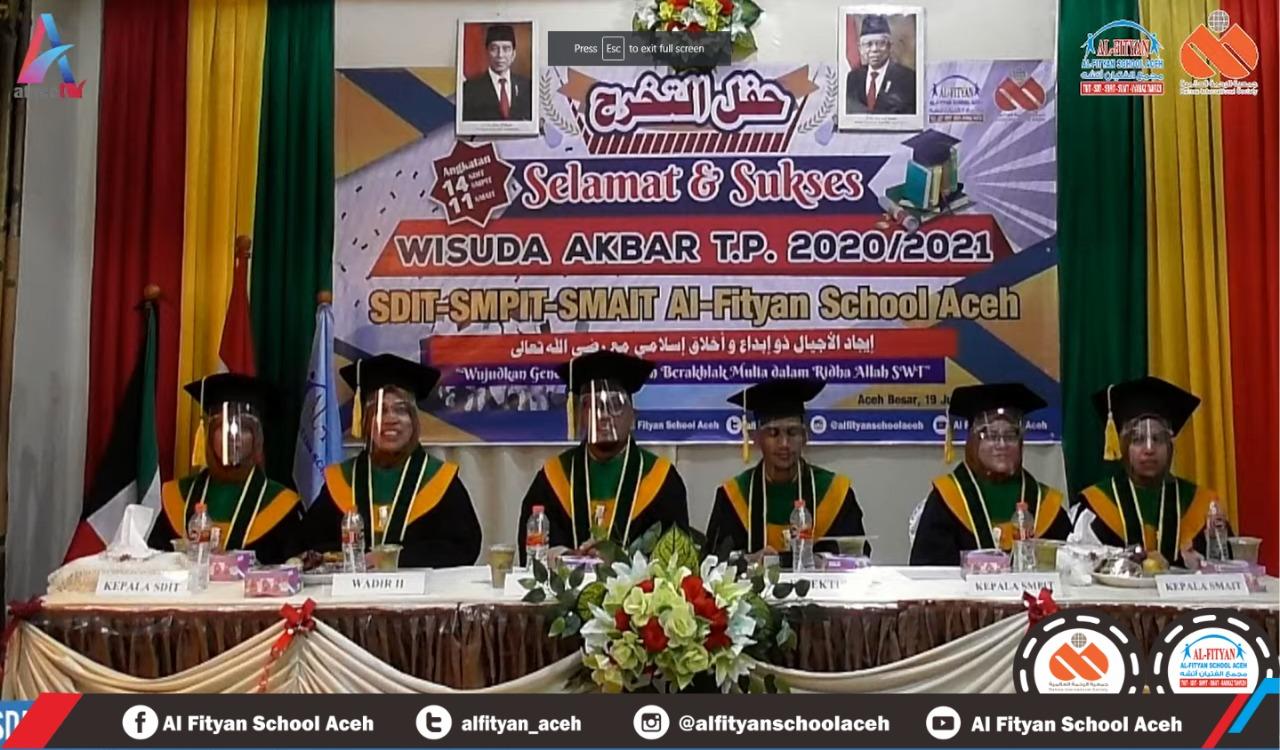 Wisuda Akbar Virtual 2021 – Al-Fityan School Aceh